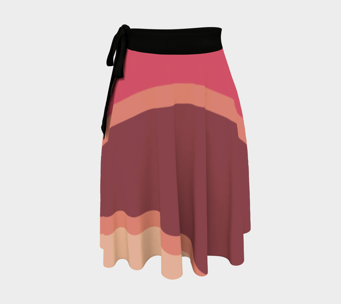 Romantic Blush Triangle Pattern Wrap Skirt preview