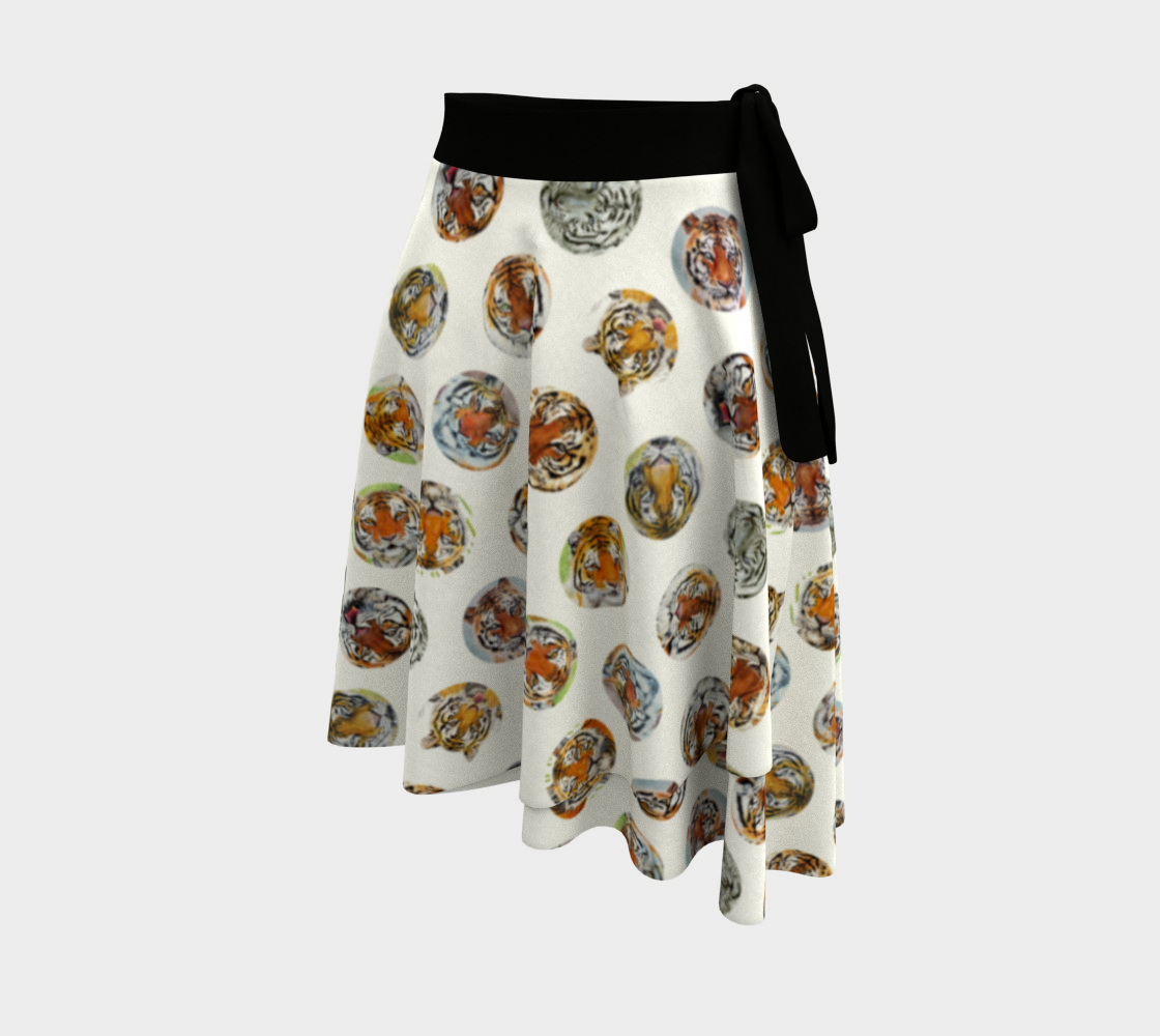 Aperçu de Tiger Pack Wrap Skirt White #2