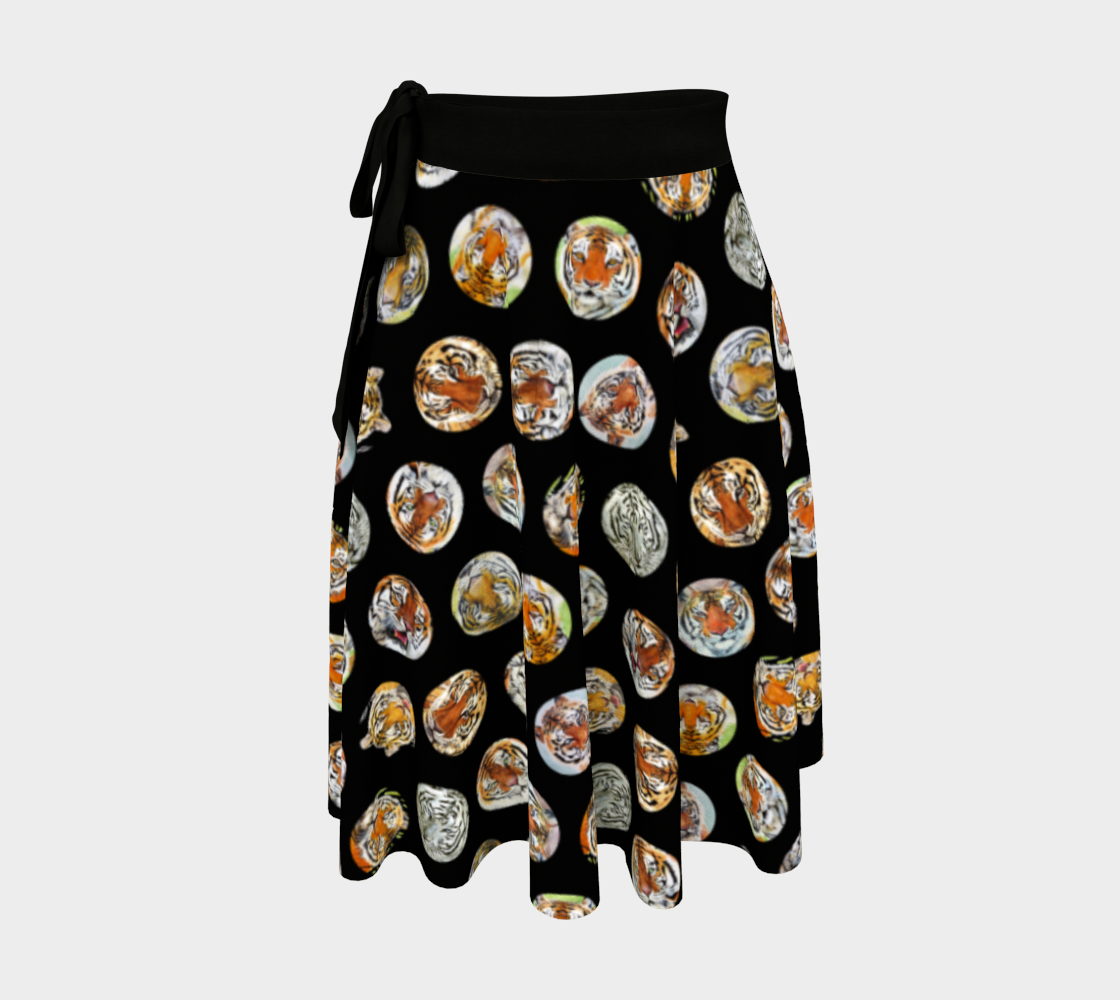 Tiger Pack Wrap Skirt Black preview