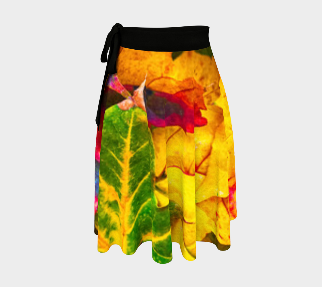 Abstract Watercolor Fall Foliage Skirt preview