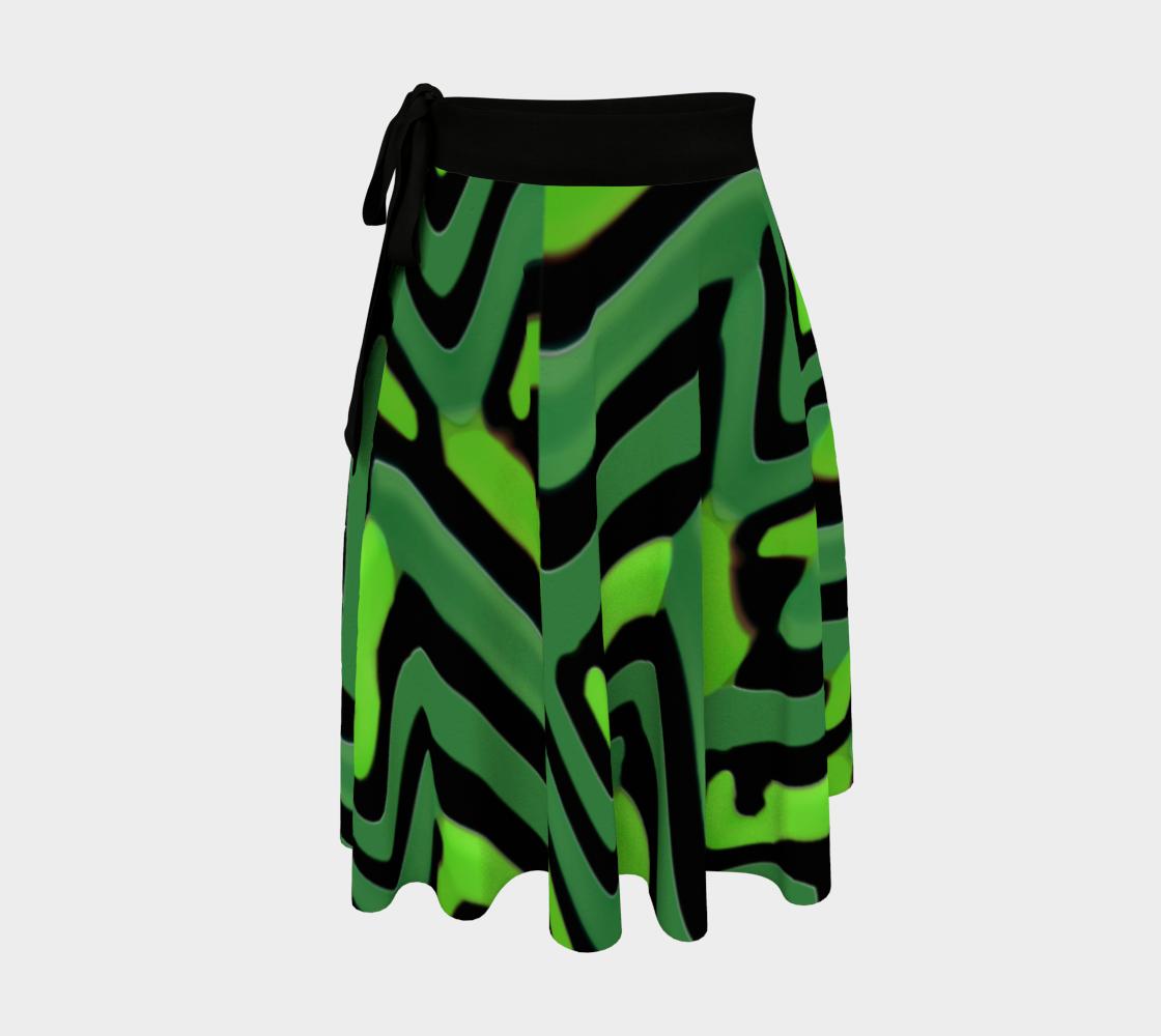 Modern Abstract Camouflage Print Skirt aperçu