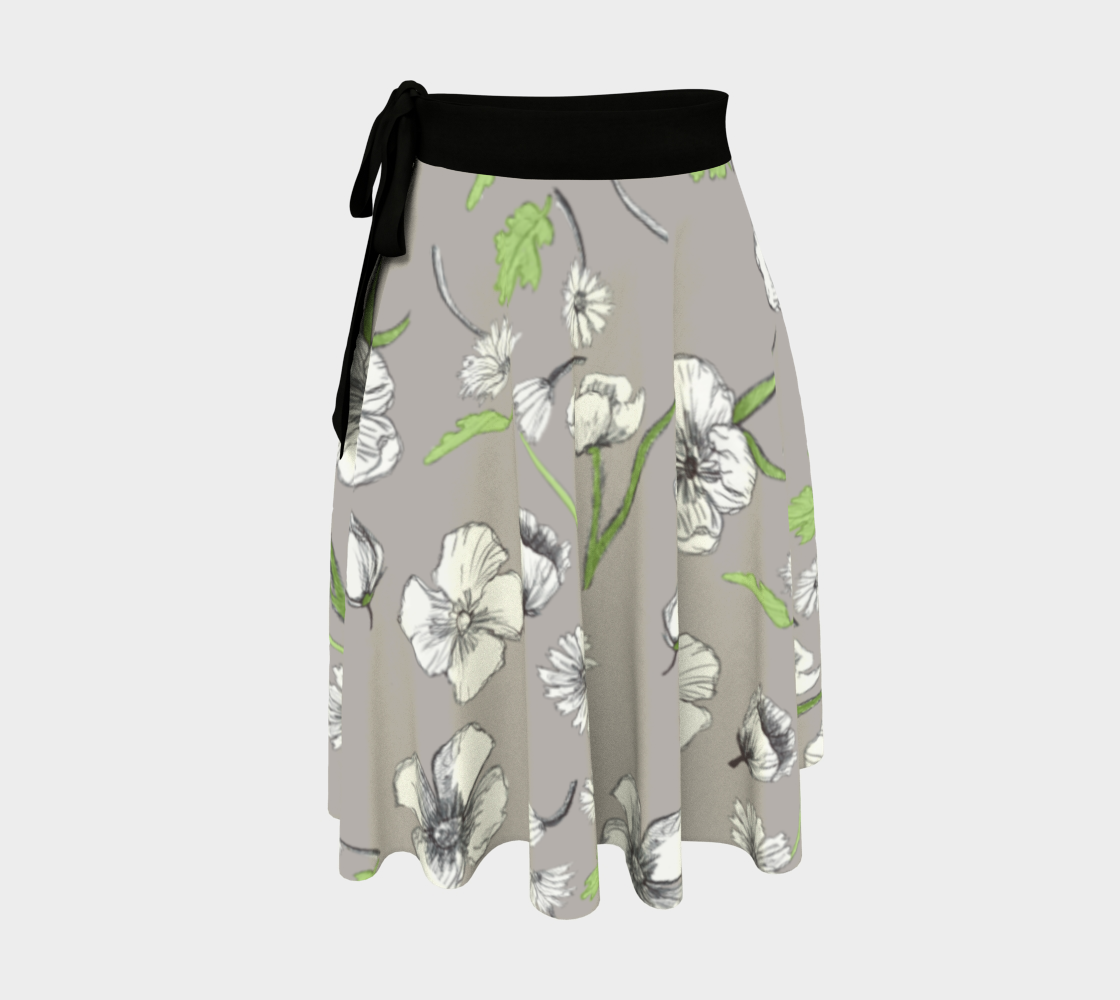 Grey ink flowers preview