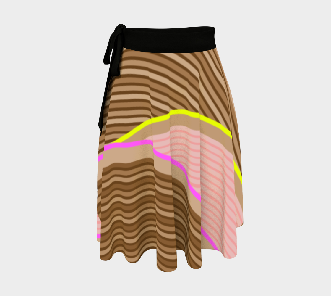Happy Times - Chocolate Fields Wrap Skirt aperçu