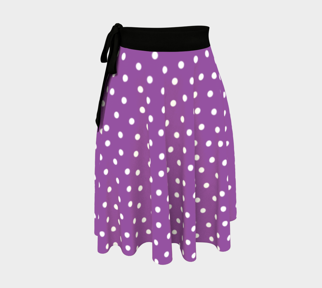 White Polka Dots on Purple preview