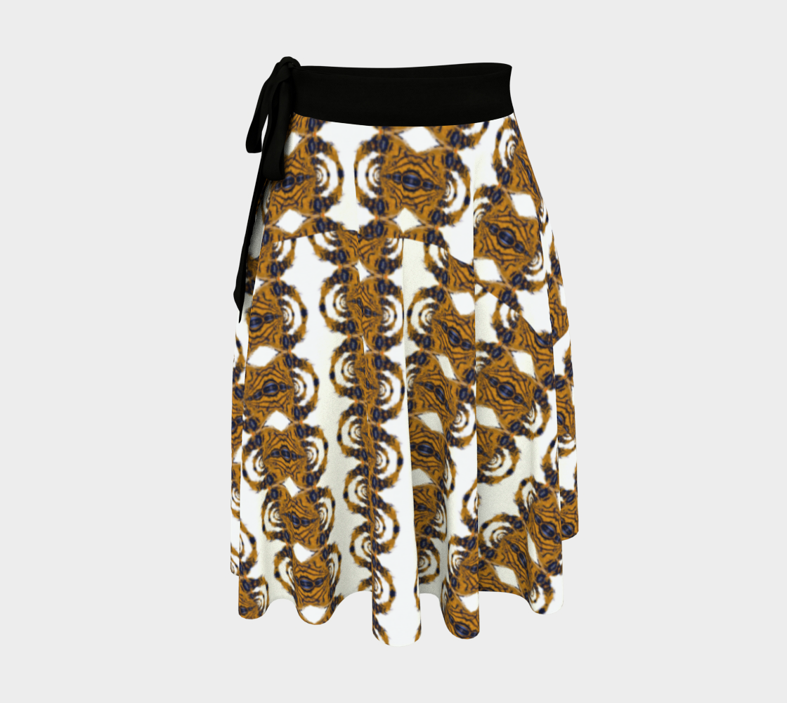 Tiger Tail Wrap Print Skirt preview