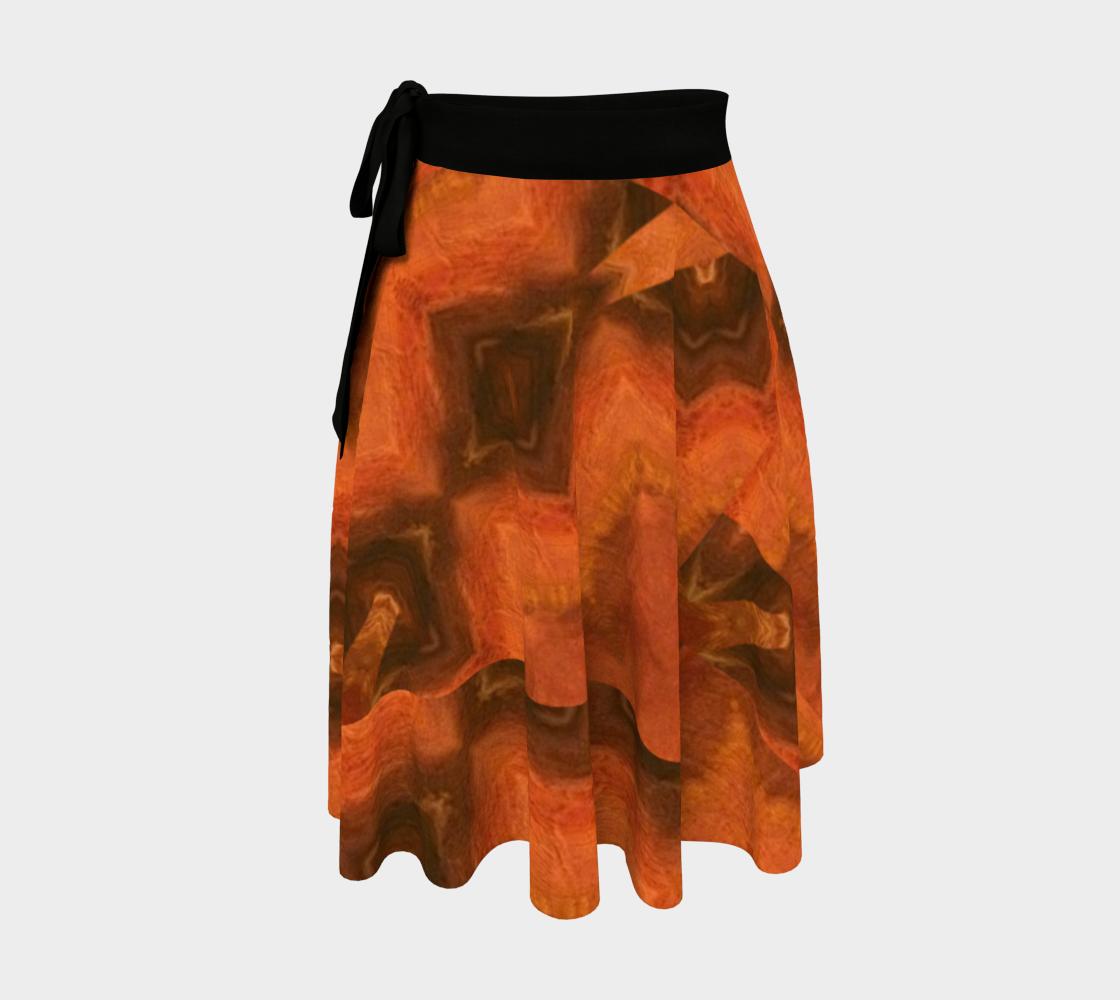 Terra Spun Virtual-Block-Print Wrap Skirt preview