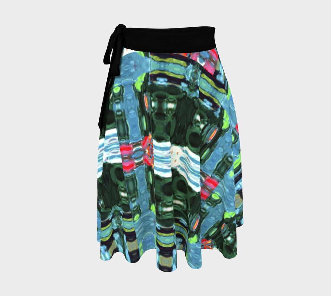 Swansea Piñata-Look Wrap Skirt preview