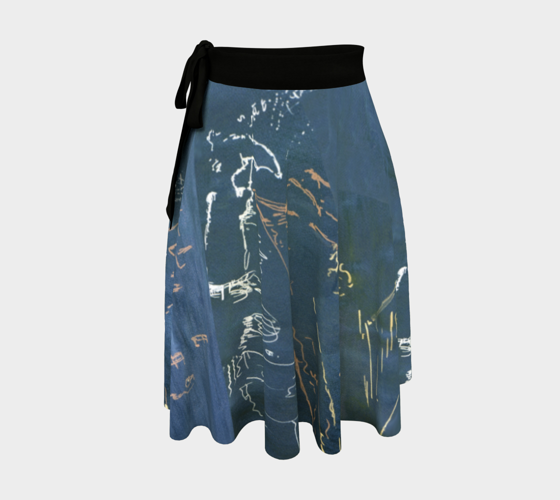 Carbon Street Rainy Day Wrap Skirt preview