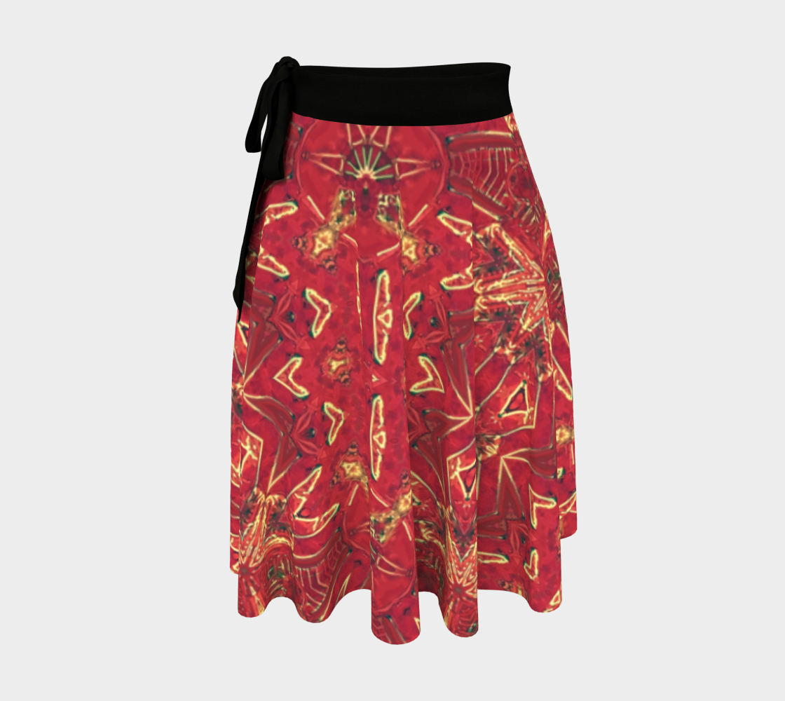 Red Ice Spangeld Star Wrap Skirt preview