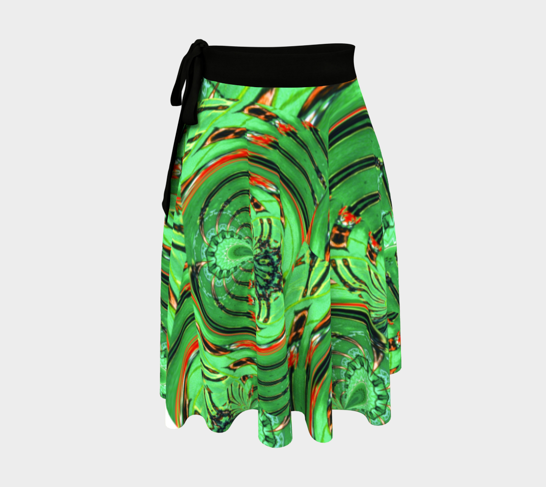 Aperçu 3D de Emerald Spider Web Wrap Skirt