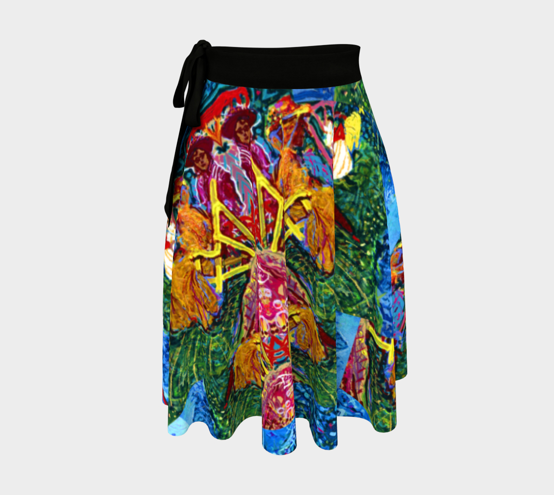 Newport Holiday  Postcard Wrap Skirt preview