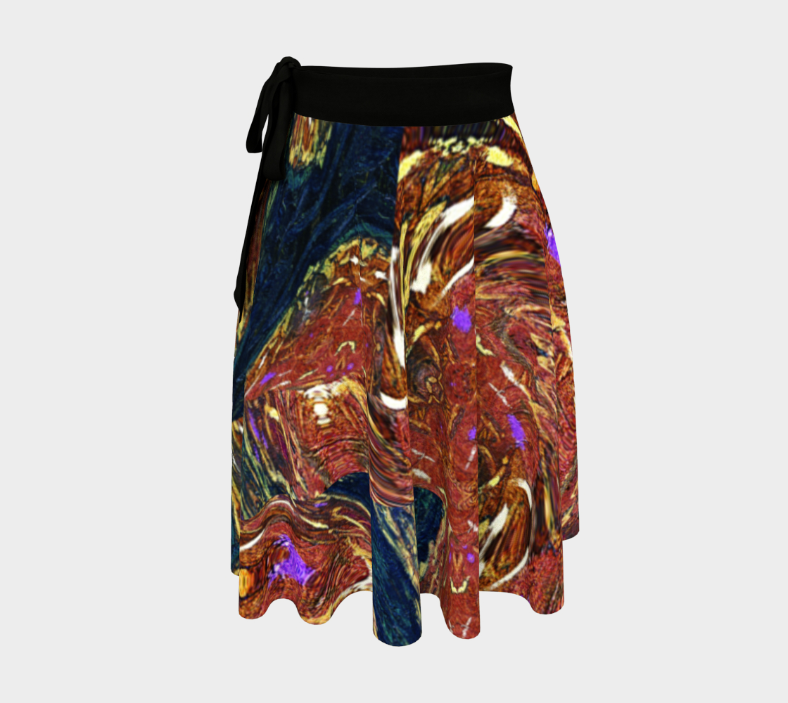 Age of Ravalow Spatter-Wrap Skirt preview