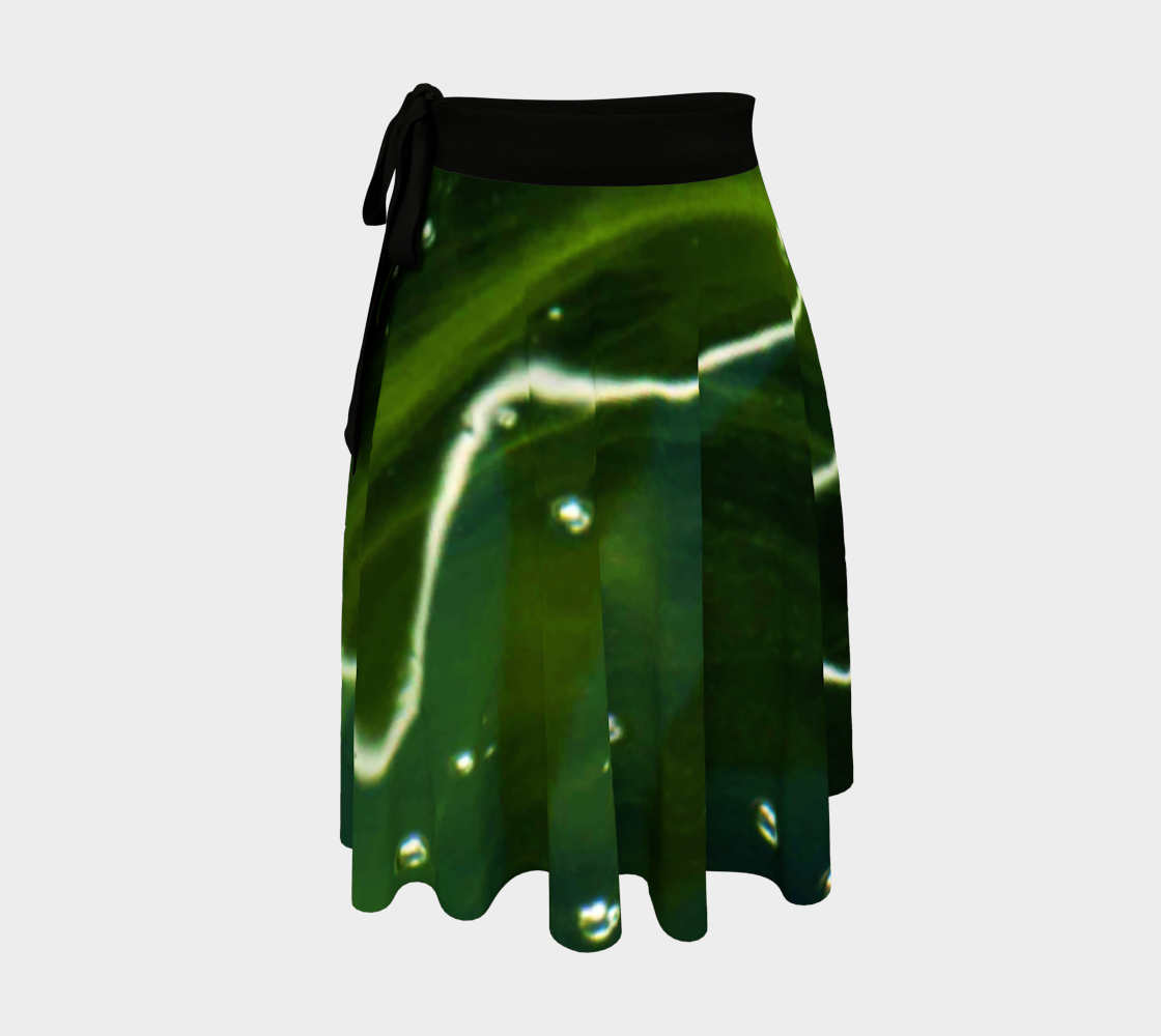 Green Algae and Water Wrap Skirt preview