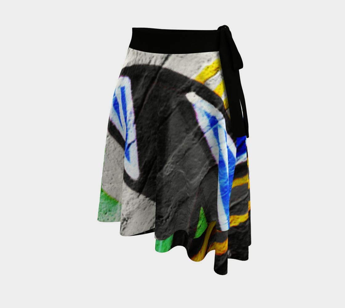 Graffiti 6 Wrap Skirt preview #2