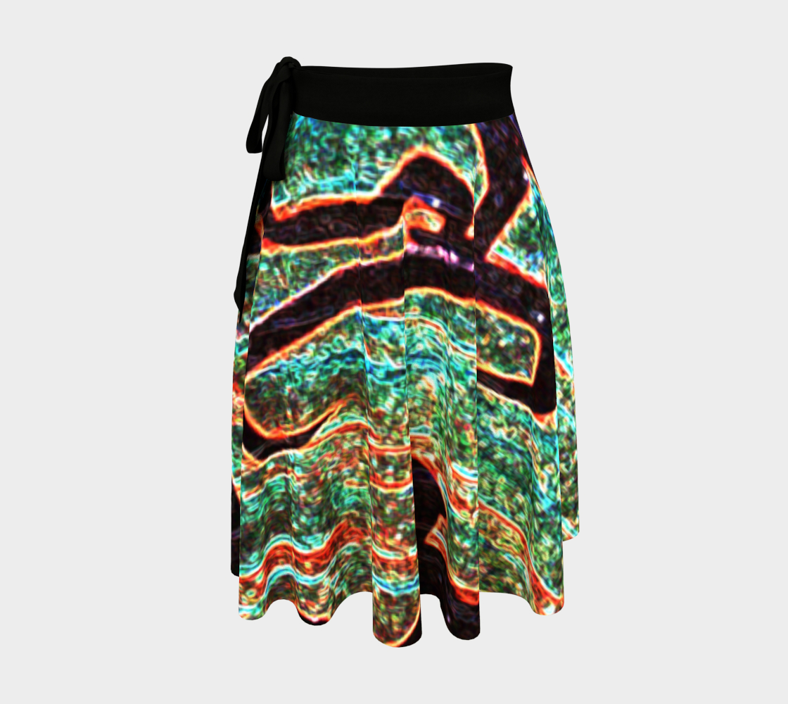 Graffiti 7 Wrap Skirt preview