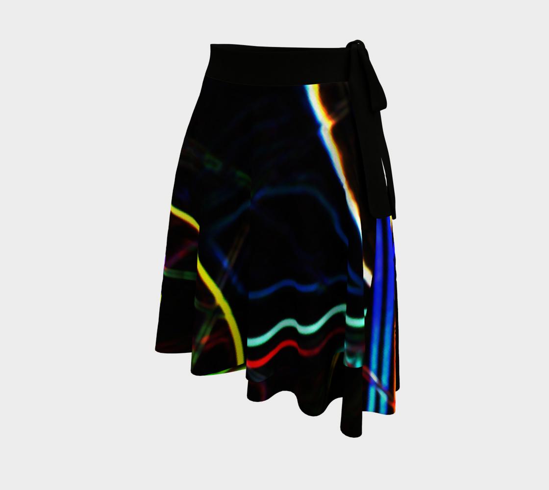 Graffiti 10 Wrap Skirt preview #2