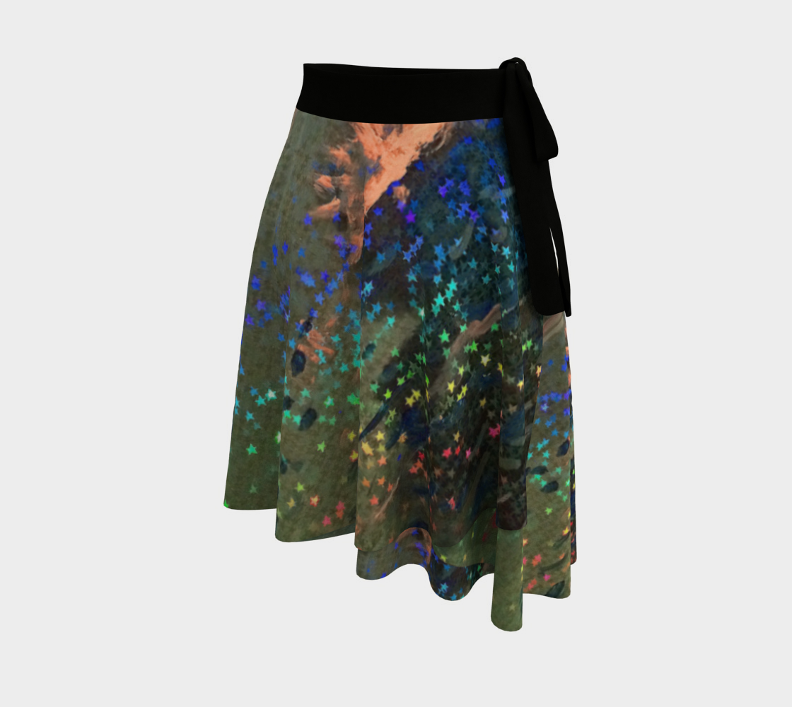 Star-Spangled Lucky Wrap Skirt preview #2
