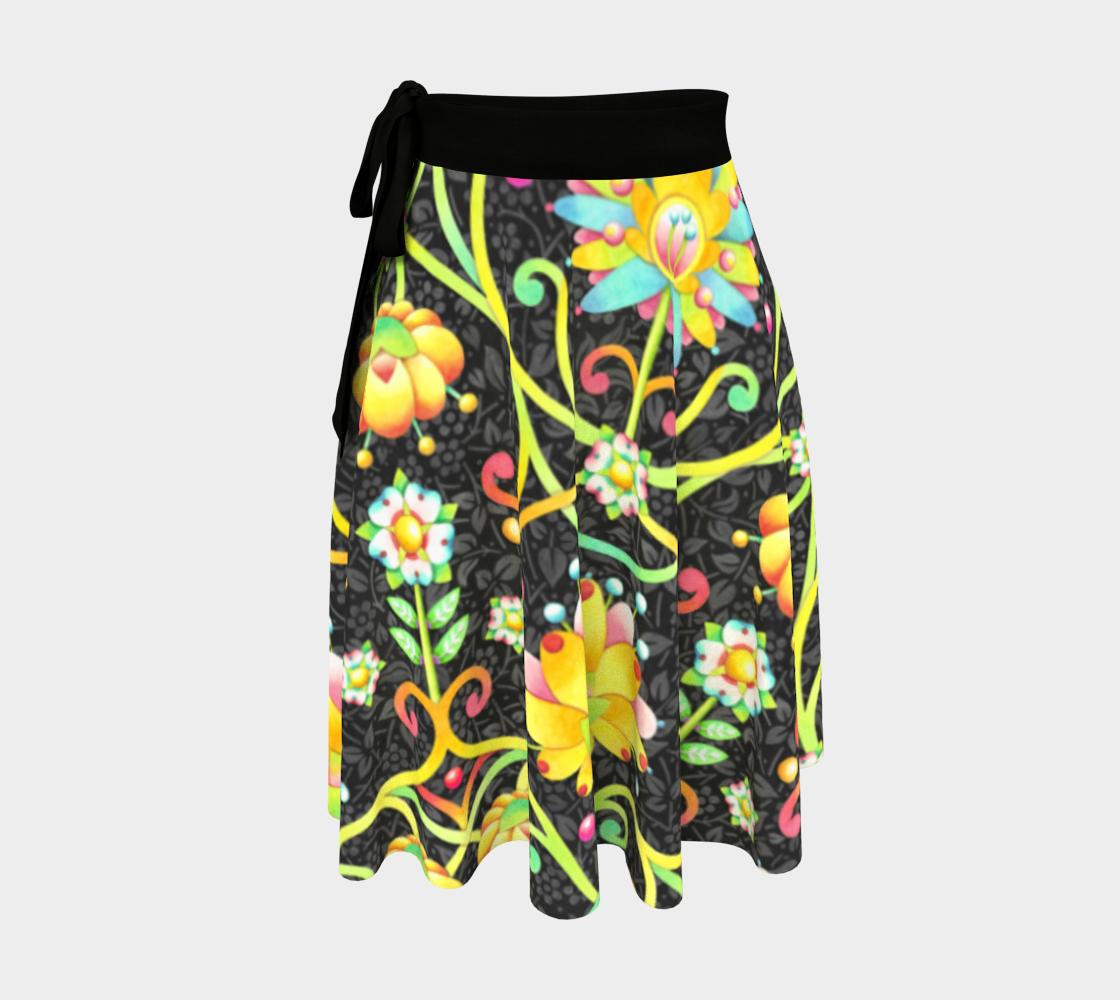 Aperçu de Fantasy Damask Wrap Skirt