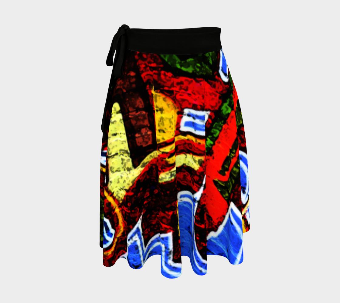 Graffiti 17 Wrap Skirt preview