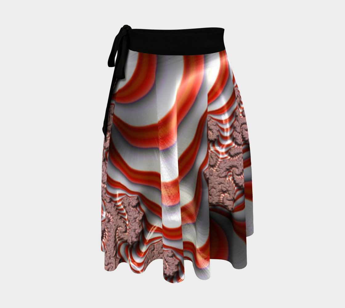Candy Cane Fractal Wrap Skirt preview