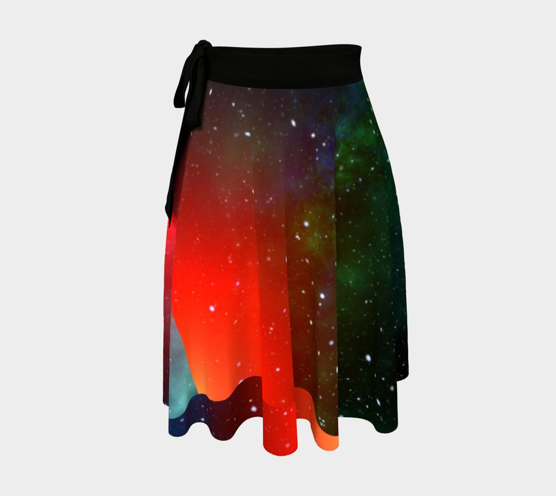 Christmas Sky wrap skirt preview