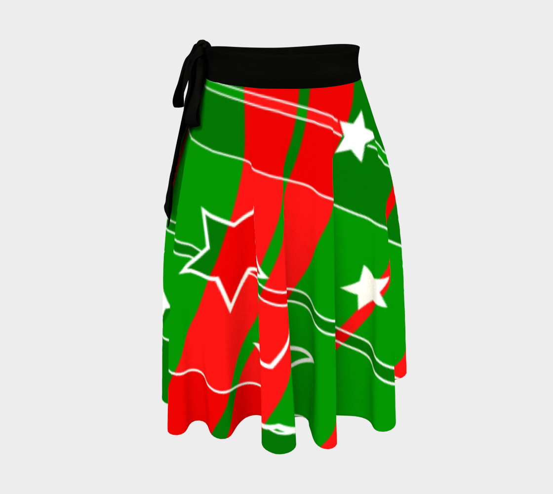 Christmas Swirled wrap skirt preview