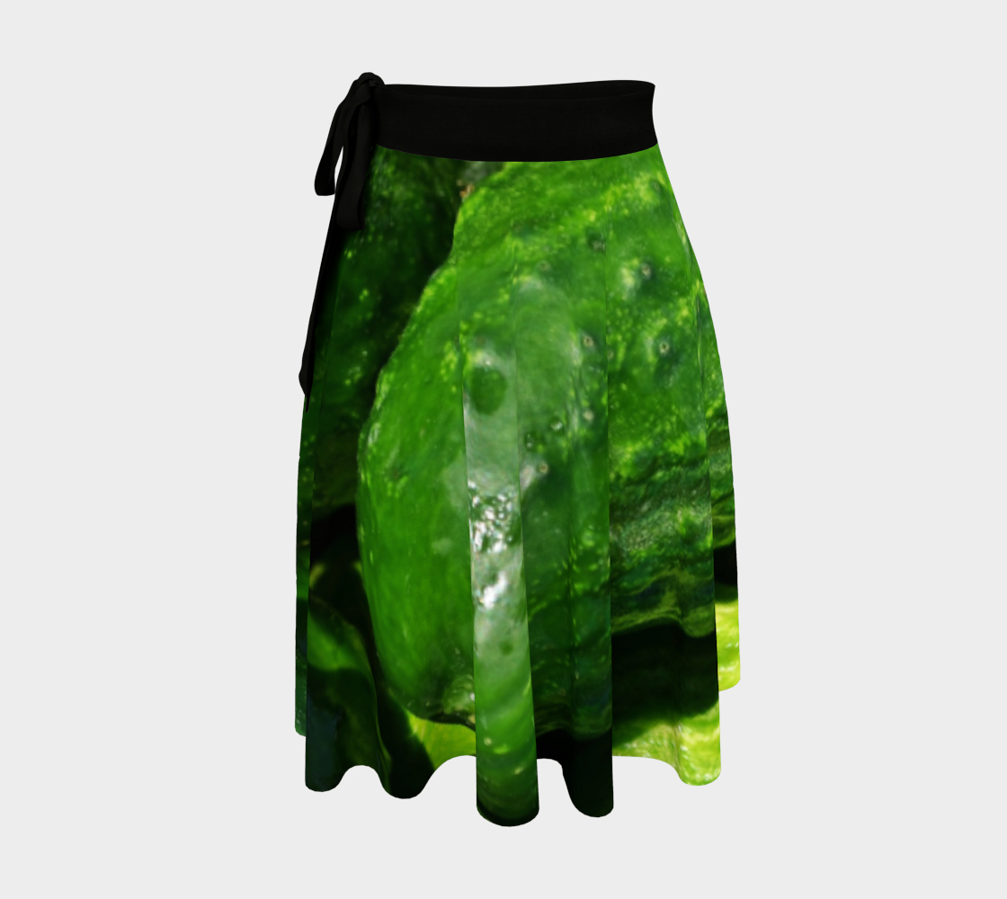 Cucumbers wrap skirt preview