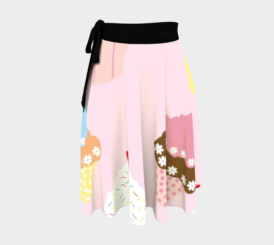 Cupcakes wrap skirt preview #1