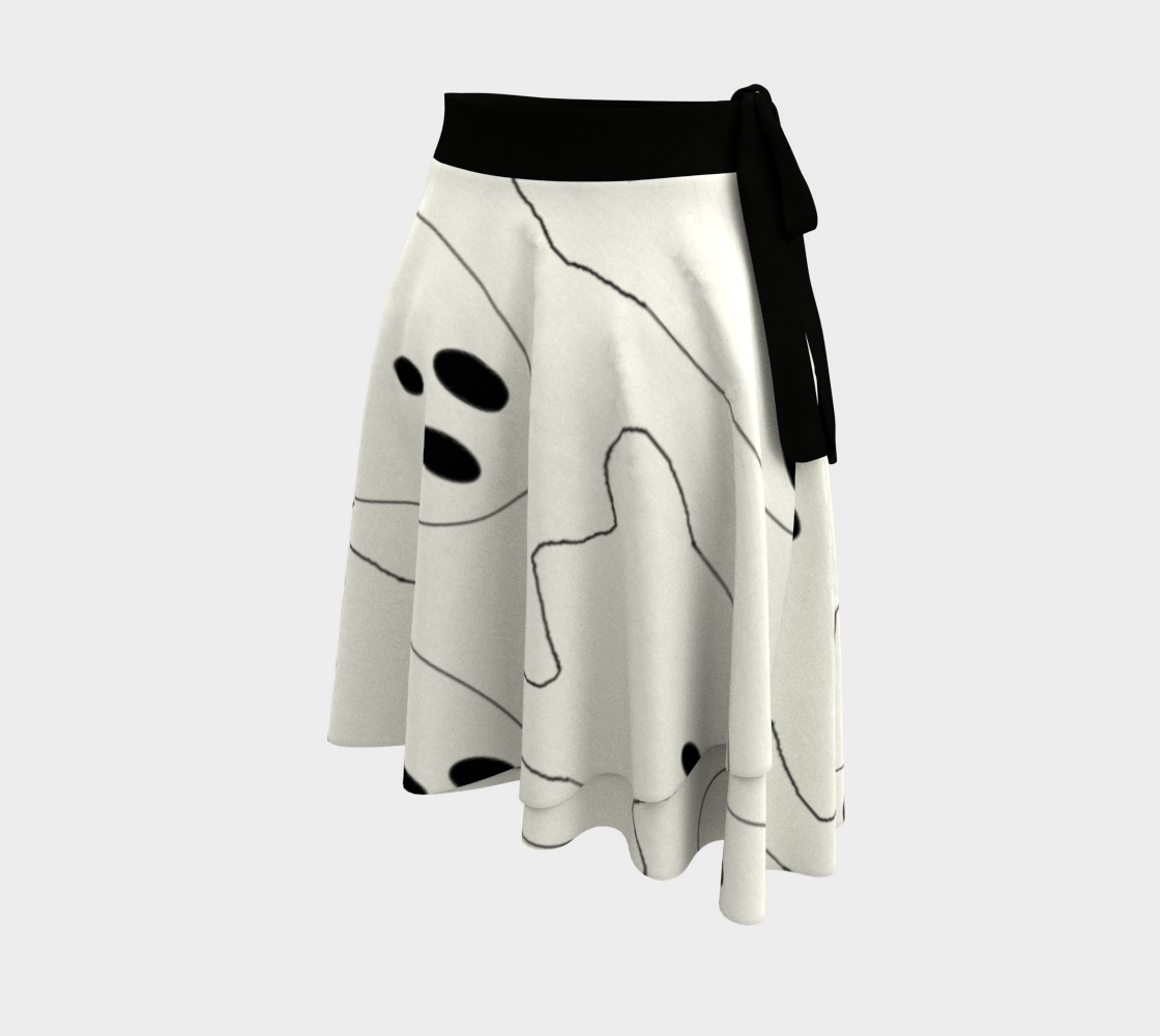 Cute Ghosts wrap skirt preview #2