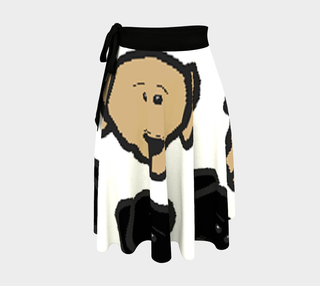 Labrador Retriever all 3 colors cartoon heads wrap skirt preview