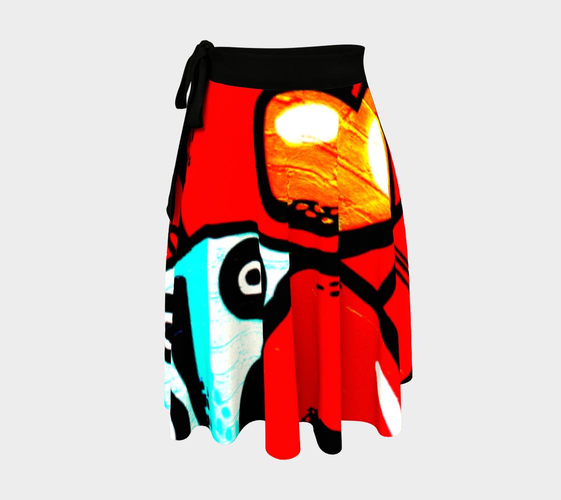 Graffiti 19 Wrap Skirt preview