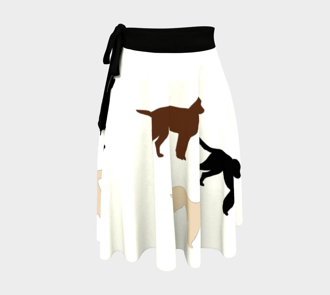 Labrador Retriever all 3 colors silhouettes wrap skirt preview