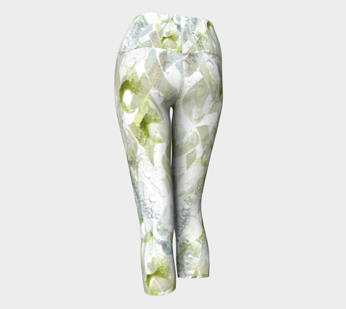 Spring Equinox 1 Yoga Capris by Laura Davis Art Studio preview #3