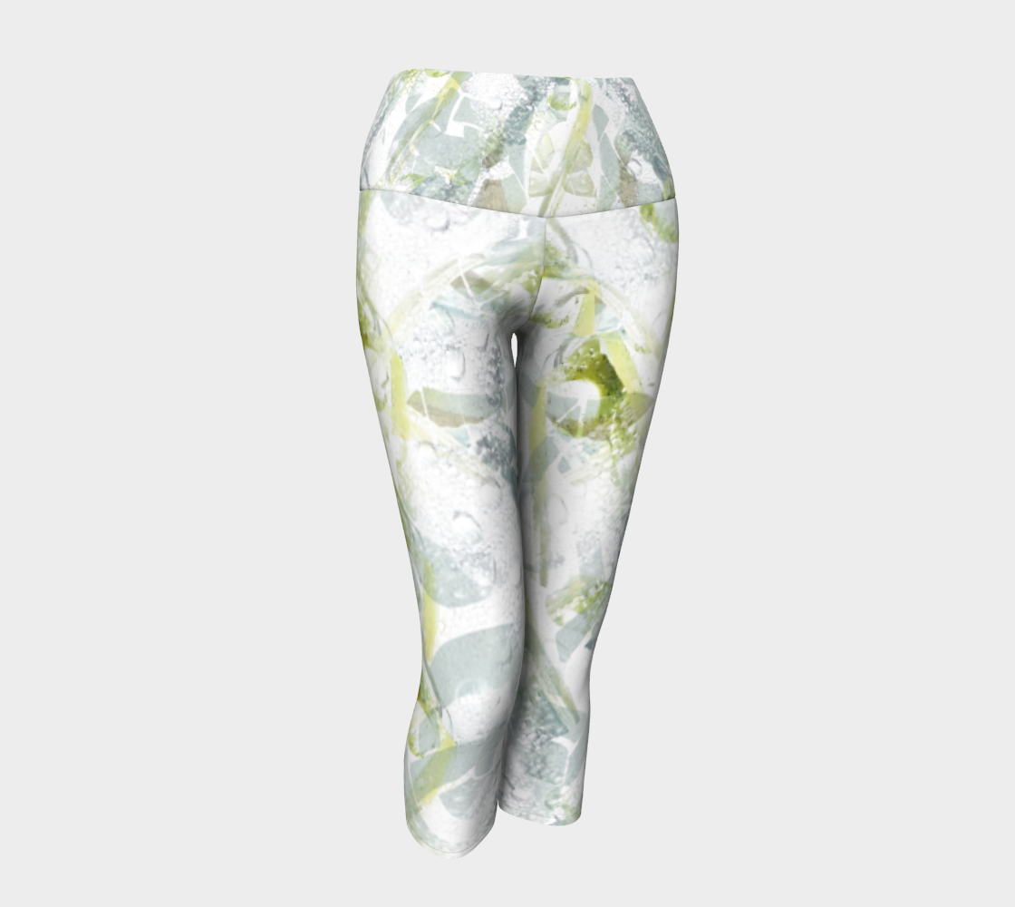 Spring Equinox 1 Yoga Capris by Laura Davis Art Studio preview #1