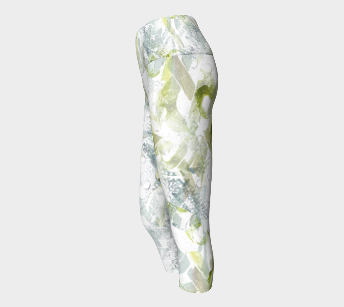 Spring Equinox 1 Yoga Capris by Laura Davis Art Studio preview #2