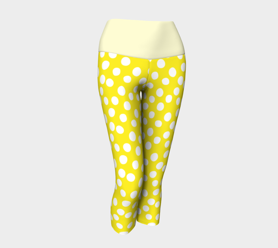 All About the Dots Yoga Capris - Yellow preview