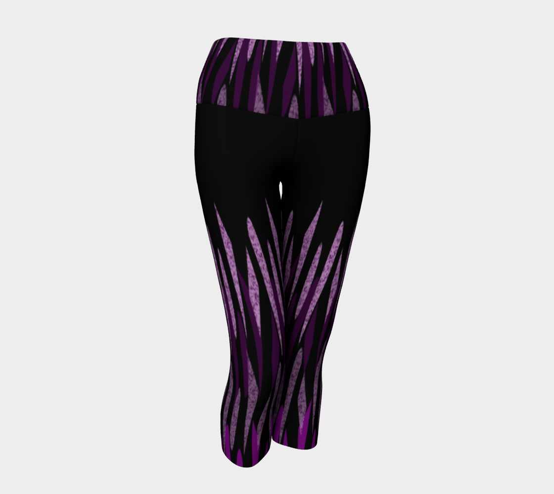 Purple Ice Abstract Yoga Capris preview