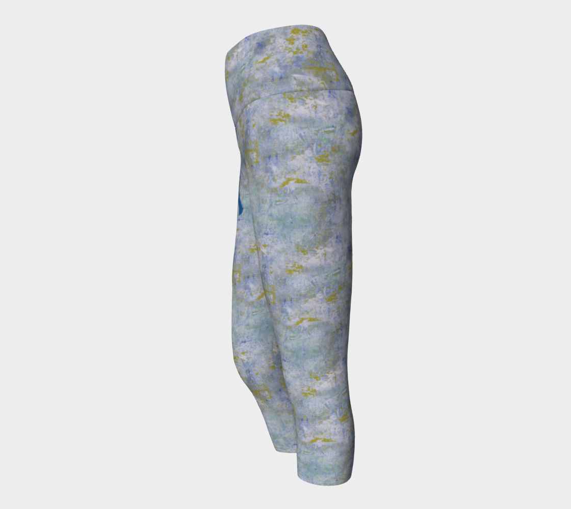 Blue Splatter Print with Seahorse preview #2