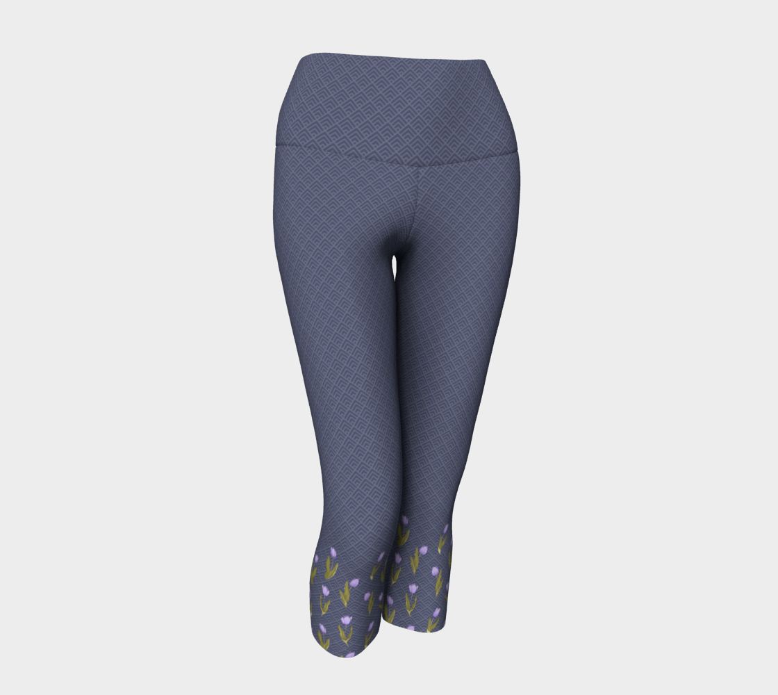 Wolf gray with floral tulip pattern on the calf preview