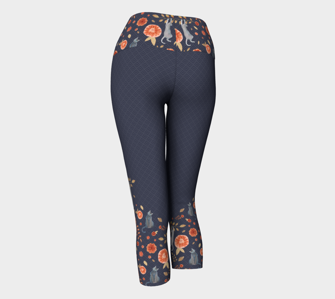 Cats hanging from my pants! Floral pattern preview #3