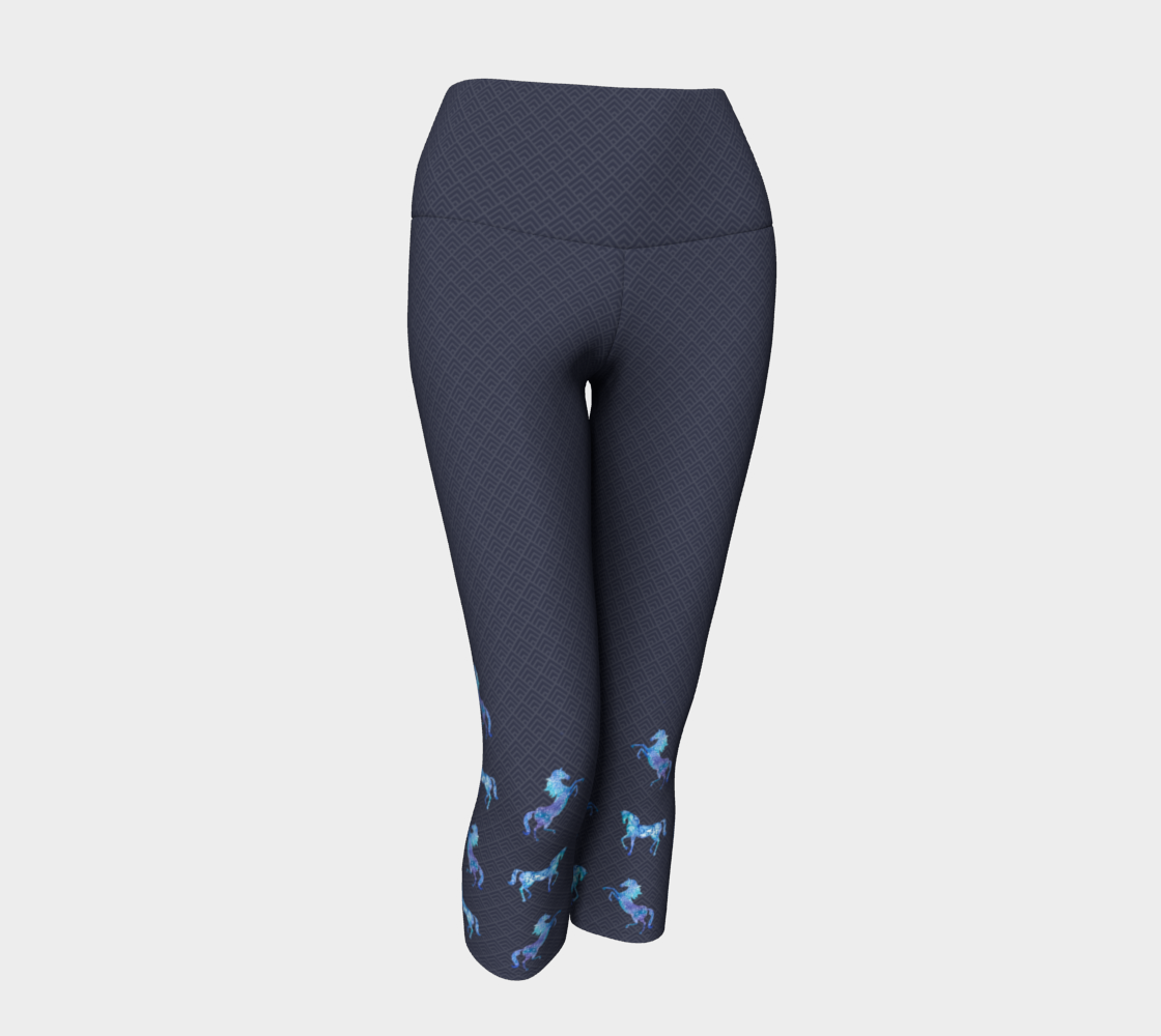 Rider's Capris with Blue Horses preview