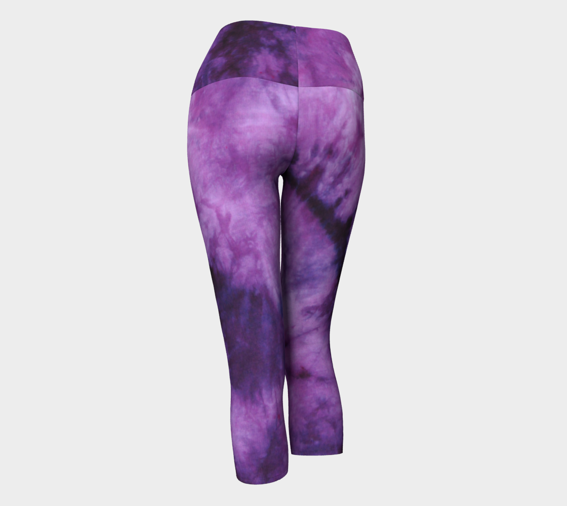 Purple Marble Yoga Capri preview #3