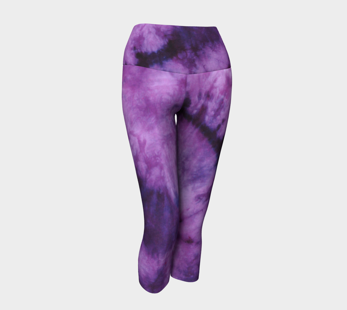 Purple Marble Yoga Capri preview #1