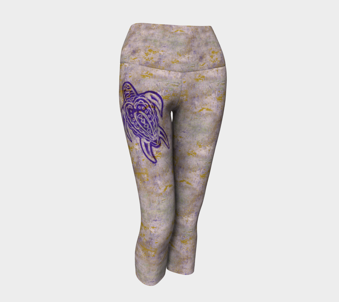 Mauve Splatter Print with Sea Turtle preview #1