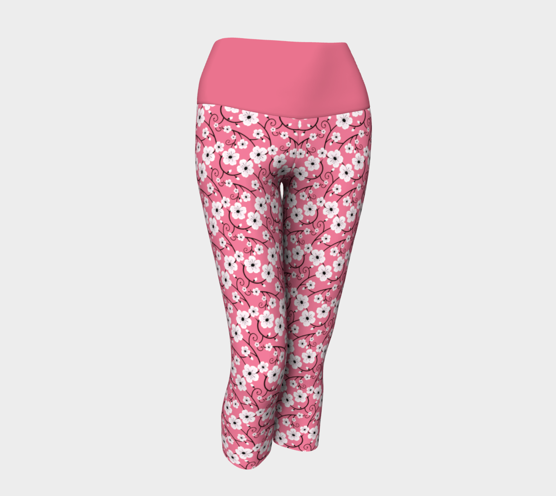 Spring Flower Hibiscus Print Pink preview