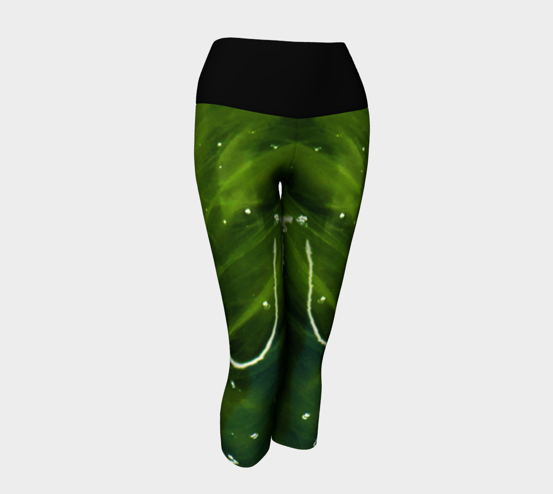 Green Algae and Water Yoga Capris preview