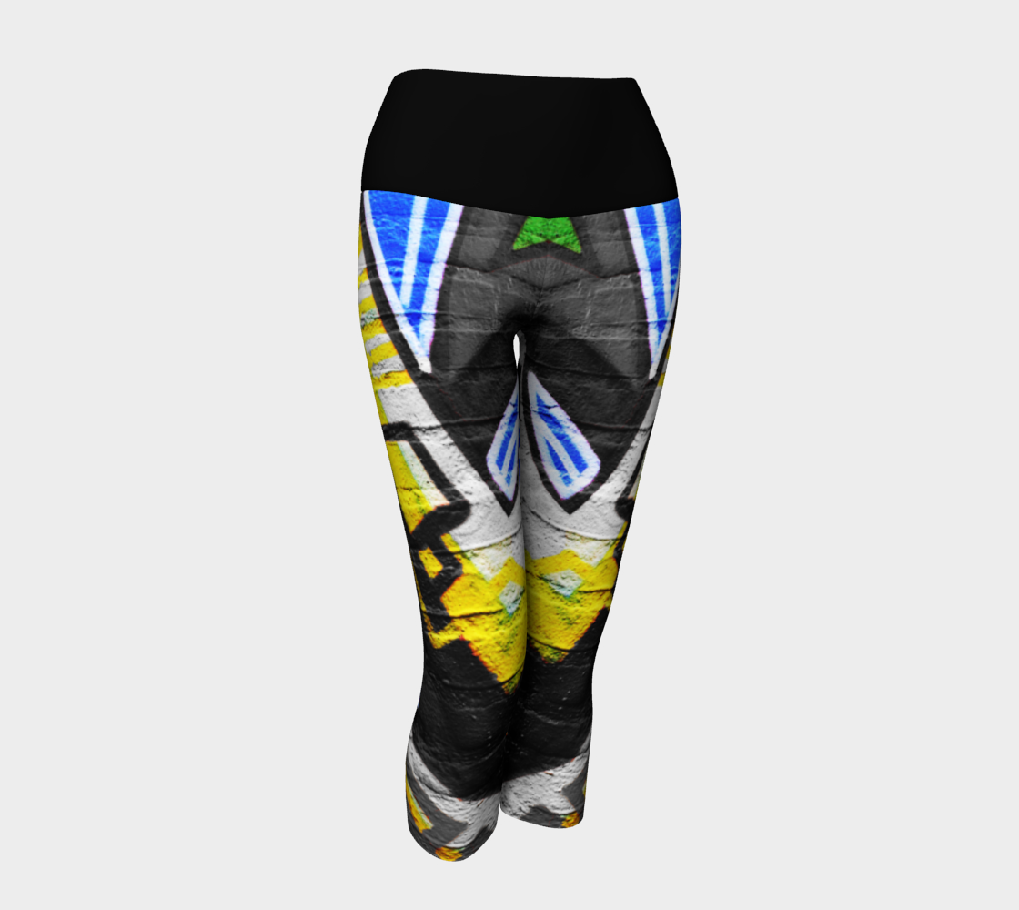 Graffiti 6 Yoga Capris preview