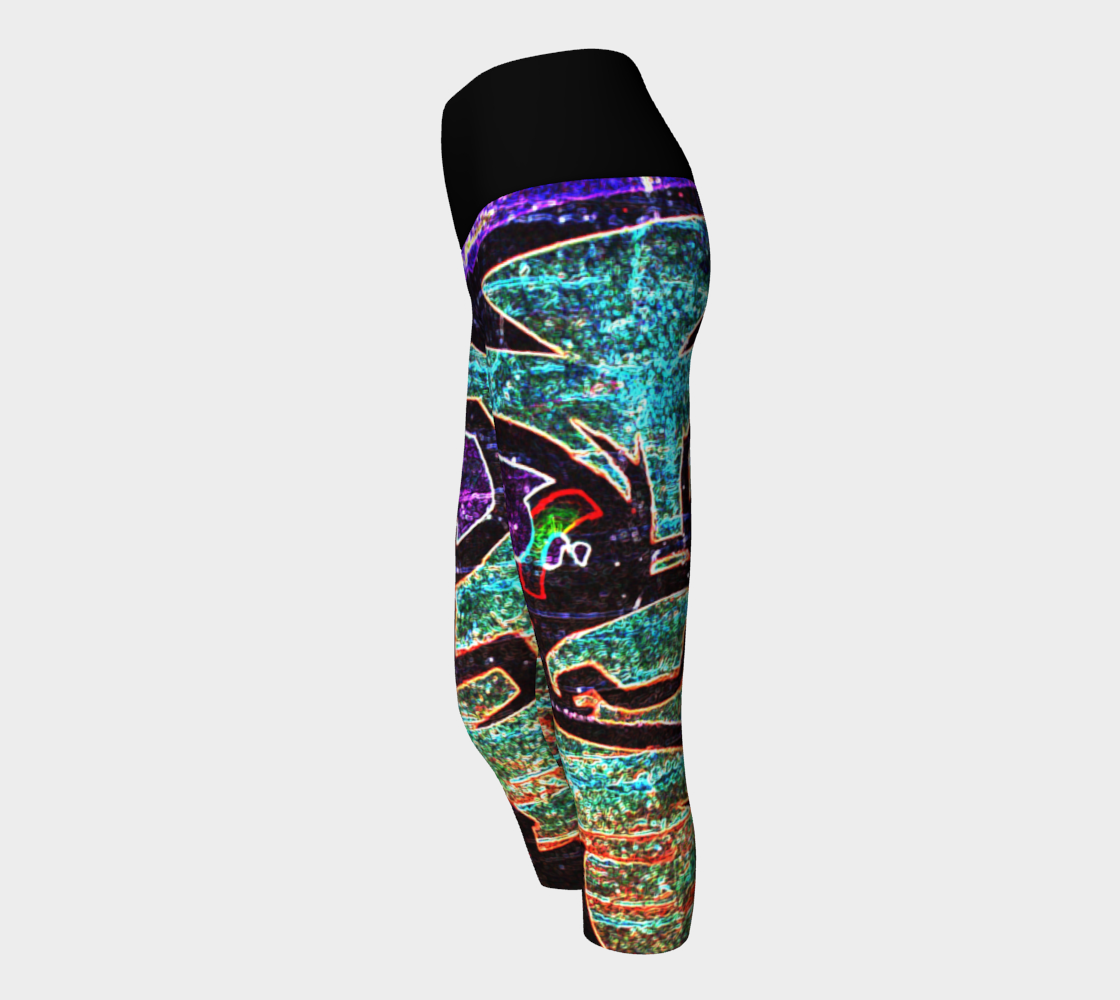 Graffiti 7 Yoga Capris preview #2