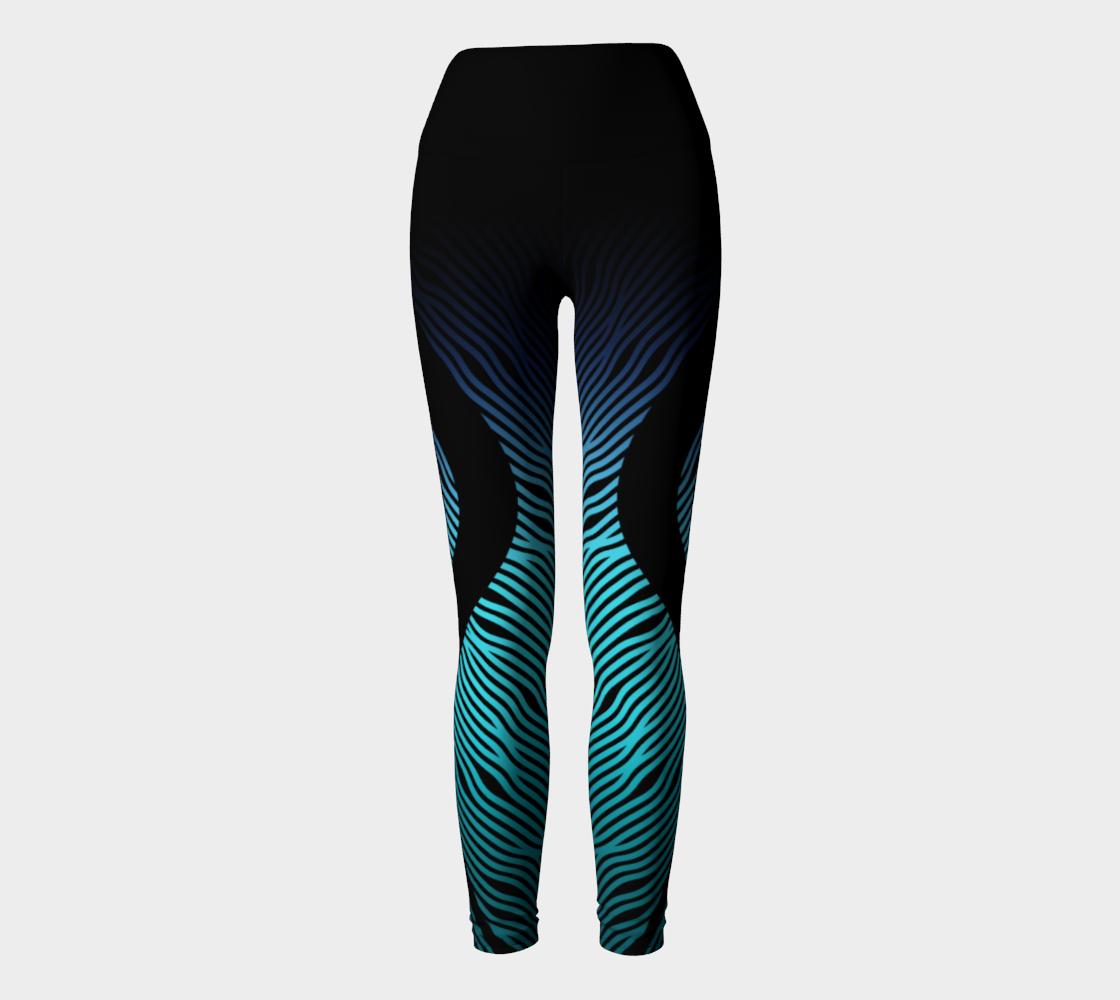 Geometrix - Waves Blue Ombre Yoga Leggings preview