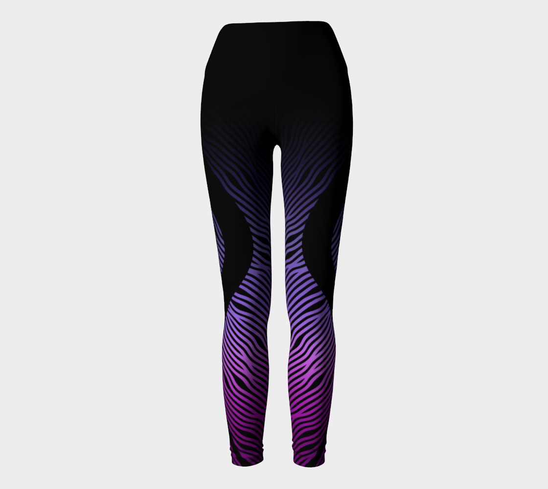 Geometrix - Waves Purple Ombre Yoga Leggings preview